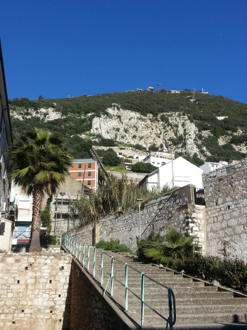 The Rock of Gibraltar seen from below