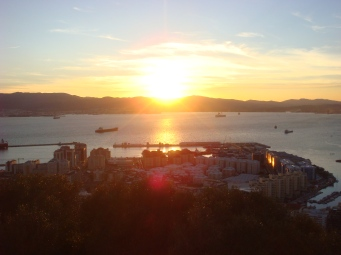Sunset over Gibraltar